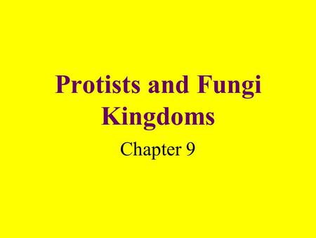 Protists and Fungi Kingdoms Chapter 9. What is a protist? A single or many-celled organism that lives in moist or wet surroundings.