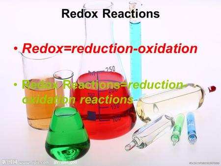 Redox=reduction-oxidation