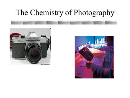 The Chemistry of Photography. Black & White Film Black and white film is composed of 4 layers. *An upper protective coat. *A layer of gelatin that contains.