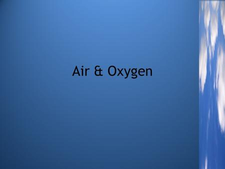 Air & Oxygen. RAG Sheet & WordBank Red Amber Green (No idea) (Some clue) (Know it)