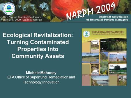 Ecological Revitalization: Turning Contaminated Properties Into Community Assets Michele Mahoney EPA Office of Superfund Remediation and Technology Innovation.