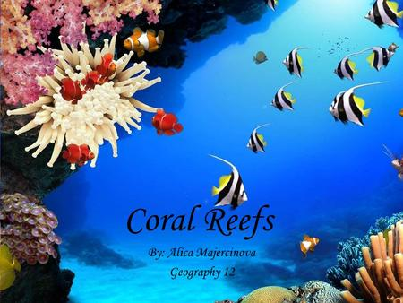 Coral Reefs By: Alica Majercinova Geography 12.