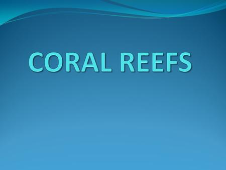 Corals Overview Coral reefs are underwater structures made from calcium carbonate secreted by coral polyps. Although coral is often mistaken for a rock.