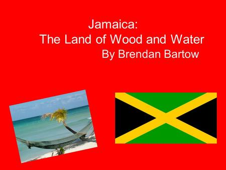 Jamaica: The Land of Wood and Water By Brendan Bartow.