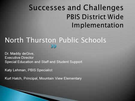 Successes and Challenges PBIS District Wide Implementation