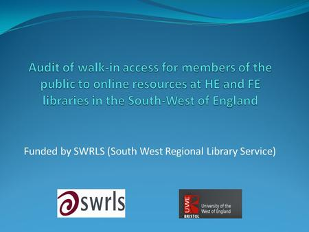 Funded by SWRLS (South West Regional Library Service)