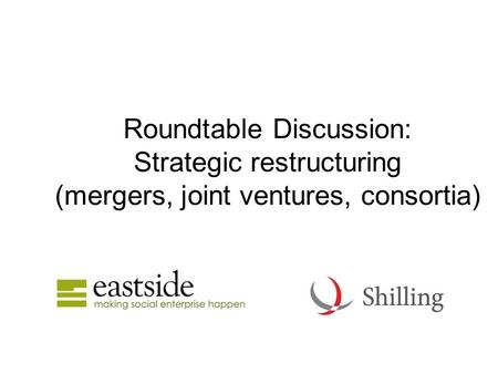 Roundtable Discussion: Strategic restructuring (mergers, joint ventures, consortia)