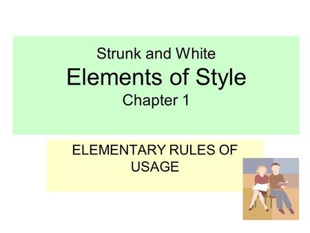 elements of style by strunk and white grammar