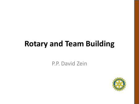Rotary and Team Building