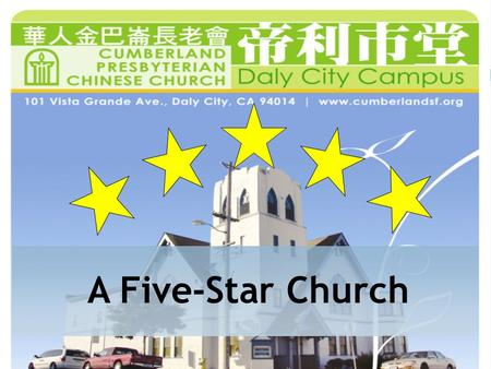 A Five-Star Church. Acts 2:46 46 …They broke bread in their homes and ate together with glad and sincere hearts,