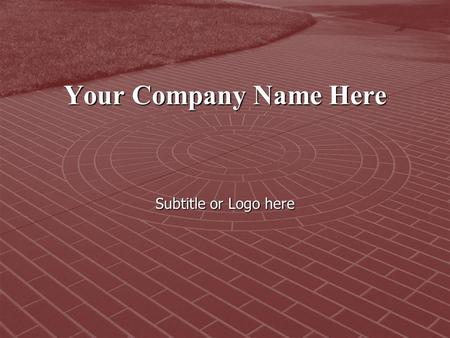 Your Company Name Here Subtitle or Logo here. What is Concrete Engraving?