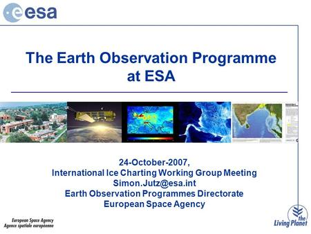 The Earth Observation Programme at ESA