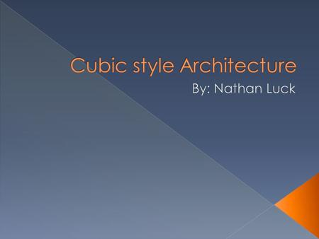  This style was created by architect Piet Blom in the 1970s.  The cubic form is often outlined with stacks of larger blocks at the corners.  Doors.