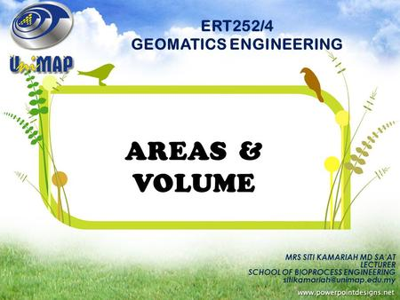 ERT252/4 GEOMATICS ENGINEERING