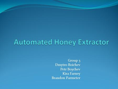 Automated Honey Extractor