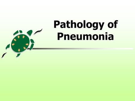 Pathology of Pneumonia