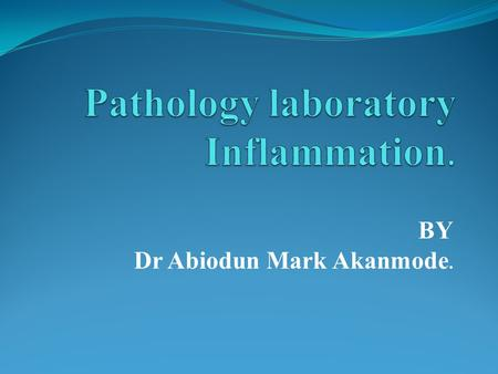 BY Dr Abiodun Mark Akanmode.. Identify the slide.