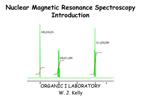 Nuclear Magnetic Resonance Spectroscopy Introduction
