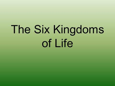 The Six Kingdoms of Life. EUBACTERIA This is a kingdom of single-celled prokaryotes that have been around in similar forms since the beginning of life.