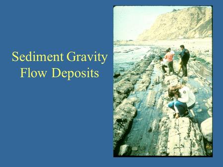 Sediment Gravity Flow Deposits