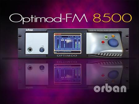OPTIMOD 8500 is Orban's flagship FM processor. It builds on the successful sound of the 8400 version 3 by doubling the sample rate and DSP horsepower.