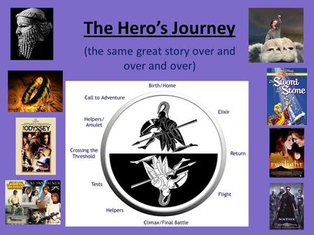 The Hero's Journey (the same great story over and over and over)