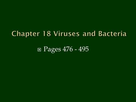 viruses and bacteria chapter 18 viruses characteristics non living no respiration growth or. Black Bedroom Furniture Sets. Home Design Ideas