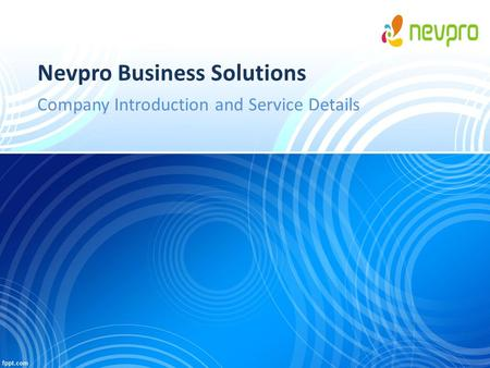 Nevpro Business Solutions Company Introduction and Service Details.
