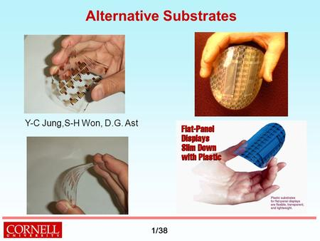1/38 Alternative Substrates Y-C Jung,S-H Won, D.G. Ast.