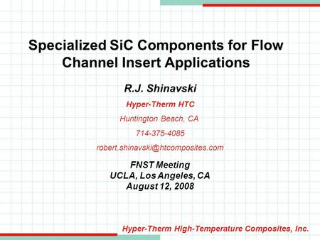 Specialized SiC Components for Flow Channel Insert Applications