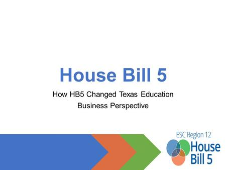 House Bill 5 How HB5 Changed Texas Education Business Perspective.