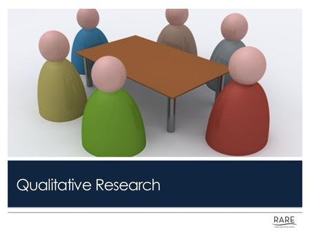Qualitative Research. Learning Objectives: Identify all decision points that rely on qualitative research, including barrier removal. Address common challenges,