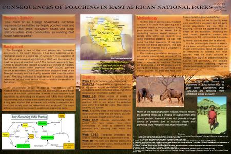 Consequences of Poaching In East African National Parks Research Question How much of an average household's nutritional requirements are fulfilled by.