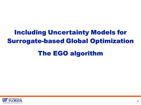 Including Uncertainty Models for Surrogate-based Global Optimization