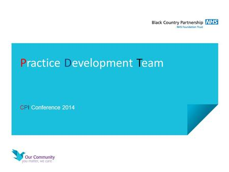 Practice Development Team CPI Conference 2014. Black Country Services.