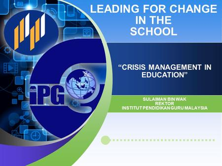 LEADING FOR CHANGE IN THE SCHOOL