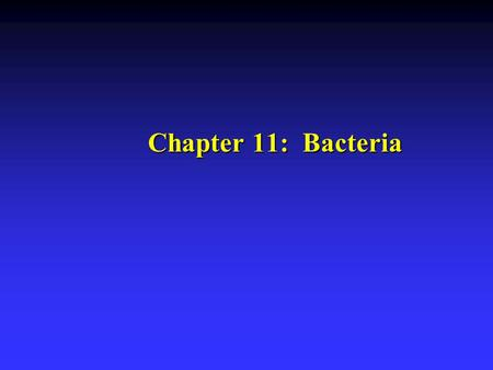 Chapter 11: Bacteria. Bacterial Groups u Most widely accepted taxonomic classification for bacteria is Bergey's Manual of Systematic Bacteriology. u 5000.