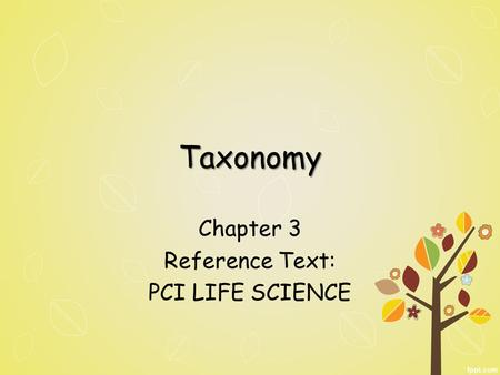 Chapter 3 Reference Text: PCI LIFE SCIENCE