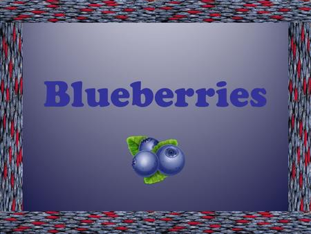 Blueberries. True Blue Facts  Genus Vaccinium, section Cyanoccus.  Blueberries have many health benefits.  Blueberries have antioxidant compounds that.