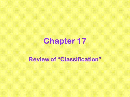 "Review of ""Classification"""