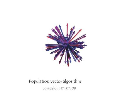 Population vector algorithm