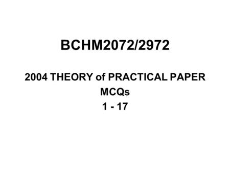 2004 THEORY of PRACTICAL PAPER