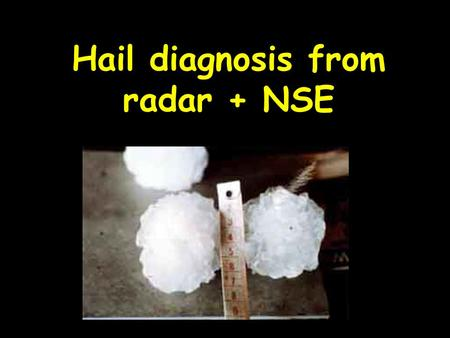 Hail diagnosis from radar + NSE