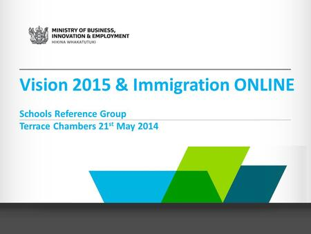 Vision 2015 & Immigration ONLINE Schools Reference Group Terrace Chambers 21 st May 2014.