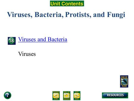 Unit Overview – pages 472-473 Viruses, Bacteria, Protists, and Fungi Viruses and Bacteria Viruses.