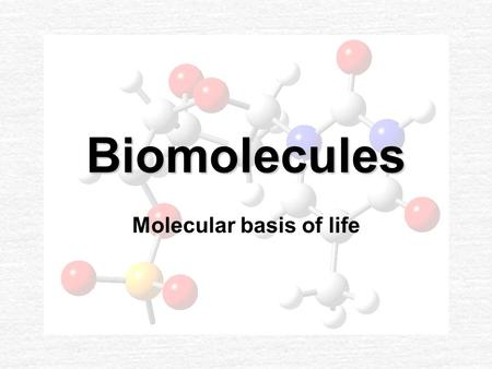 "Biomolecules Molecular basis of life. Polymers ""mer"" means unit ""mono"" means one Monomer-one unit ""poly"" means many Polymer-many units Polymers are made."