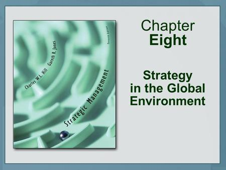 Chapter Eight Strategy in the Global Environment.