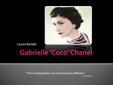 an analysis of gabrielle chanel