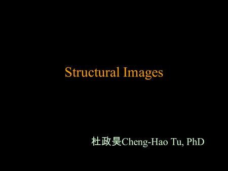 Structural Images 杜政昊Cheng-Hao Tu, PhD.