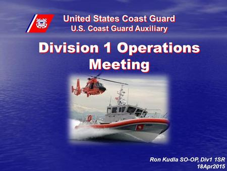 Division 1 Operations Meeting